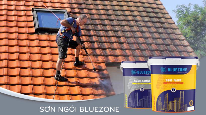 Cách thi công sơn ngói Bluezone