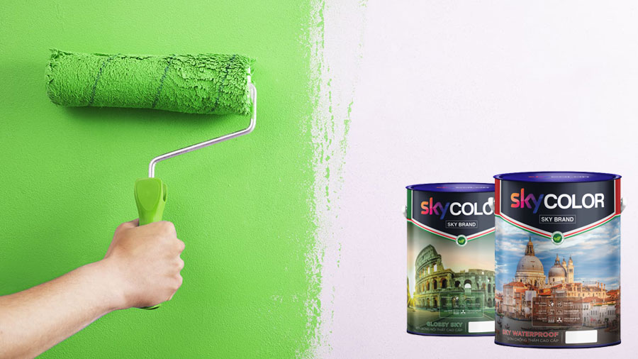 Cách thi công sơn tường mới