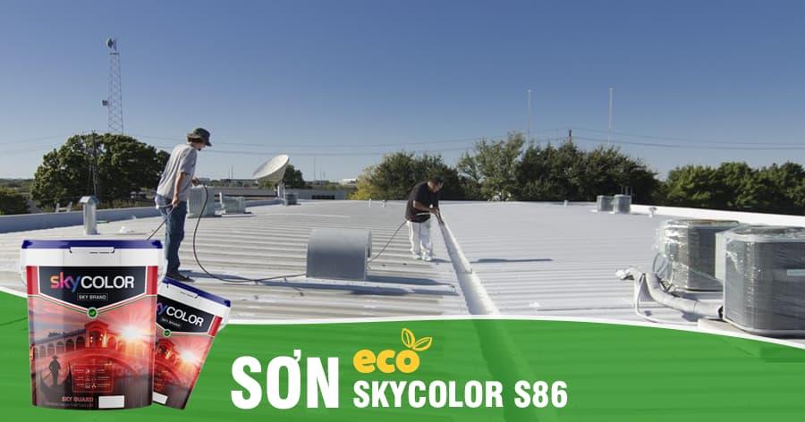 Ưu điểm sơn chống nóng mái tôn